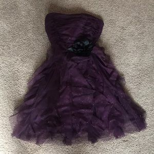 Purple/ glittery homecoming dress